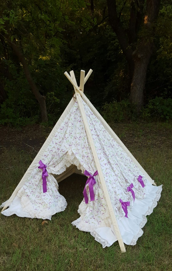 tente de jeu pour enfants fille tipi. Black Bedroom Furniture Sets. Home Design Ideas