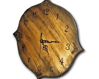 Clock, handmade unique clock, wood wall clock
