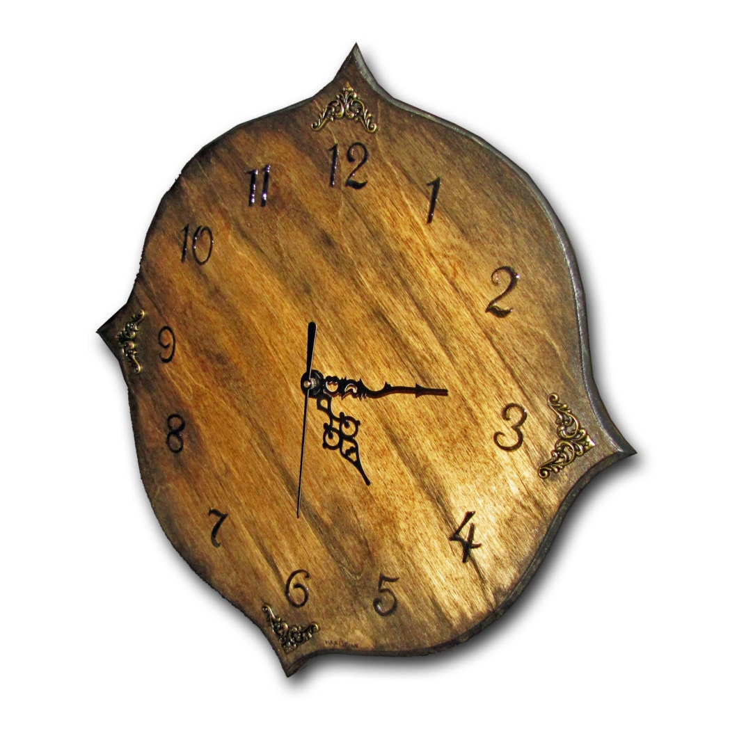 On Sale Clock Handmade Unique Clock Wood Wall Clock