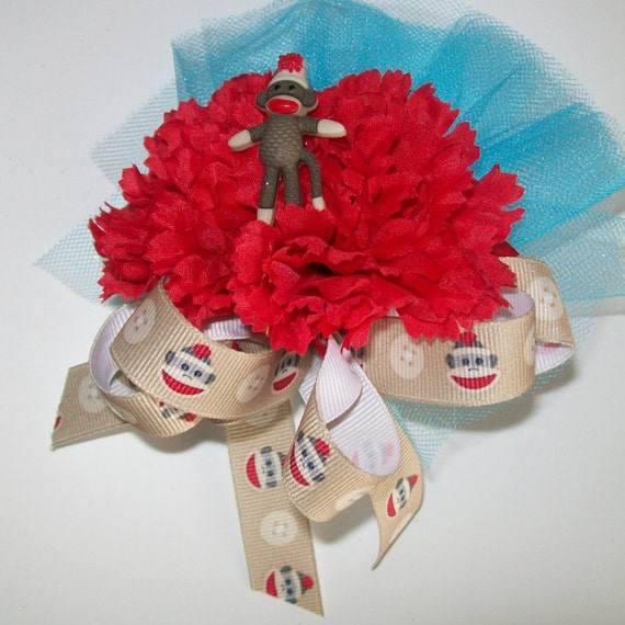 sock monkey baby shower corsage sock monkey theme baby shower girl