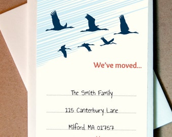 We've Moved Cards Personalized (25 cards and envelopes)