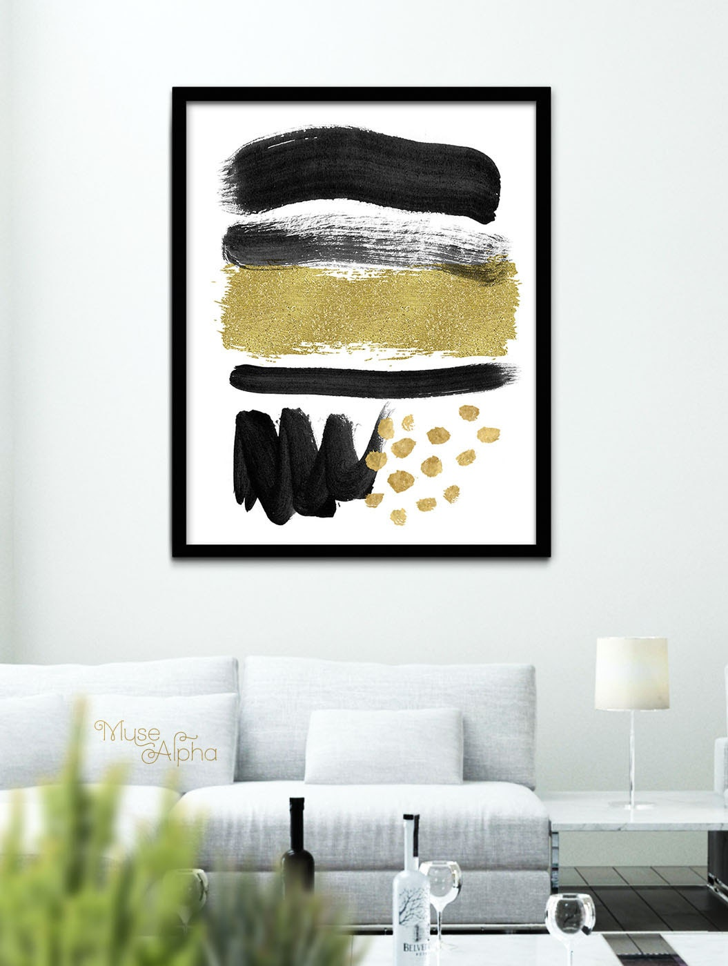 Wall Art Black Gold : Gold wall art black and poster prints