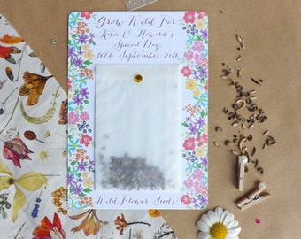 Pretty Flower Seed Wedding Favour/Memento with Diamante Detail