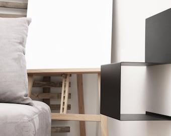 Shelf S_MIN / Steel shelf / wall mounted shelf / modular book-shelf