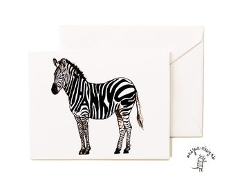 Thankful Zebra Card Set - Thank You- A2- Blank
