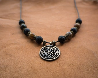 Viking Sleipnir - Odin's Horse Necklace with Beads