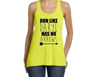 Womens / Ladies RUNNER Racerback Tank Top Daryl Dixon The Walking Dead Zombie Tank