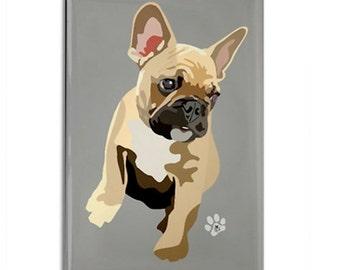 "Magnet: French Bulldog, 2 1/8"" x 3 1/8"""