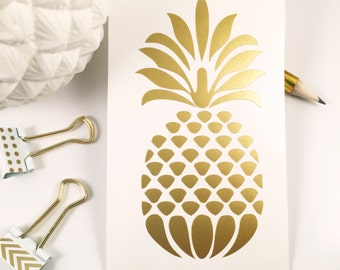 Gold Pineapple Decal/Sticker, Car Decal, Laptop Decal, Monogram Decal, iPhone Decal, iPad Decal