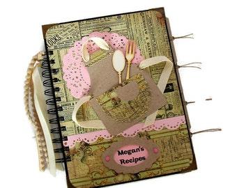 Rustic Recipe Book, Bridal Shower Gift, Personalized Cook Book, My Recipe Book, Family Recipe Organizer, Brides Gift, Housewarming Gift