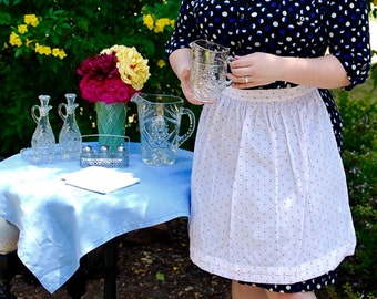 Vintage Apron with red print