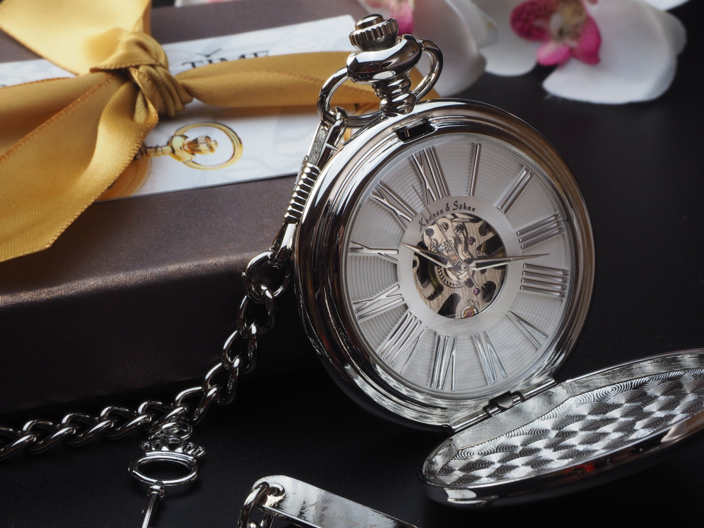 custom engraved silver white skeleton pocket gift