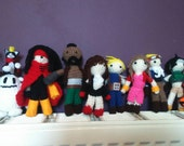 Final Fantasy VII main cast inspired crochet amigurumi set of ten featured image