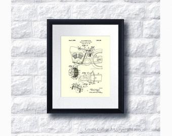 Harley Davidson Motorbike Patent Art Poster no.A2 Wall Art Print, Harley Davidson Home Decor, Harley Gift Idea, Gift for him, Gift for Biker