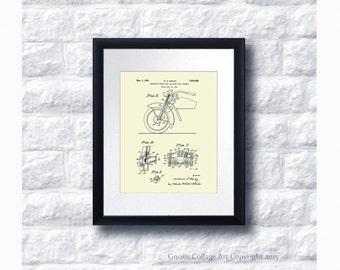 Harley Davidson Motorbike Patent Art Poster no.B3 Wall Art Print, Harley Davidson Home Decor, Harley Gift Idea, Gift for him, Gift for Biker