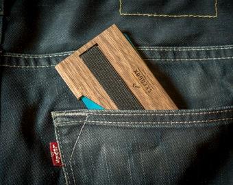 WOODEN wallet / money clip / minimalist wallet / slim wallet / wallet / walnut wallet / gift wallet / mens wallet / gift for men
