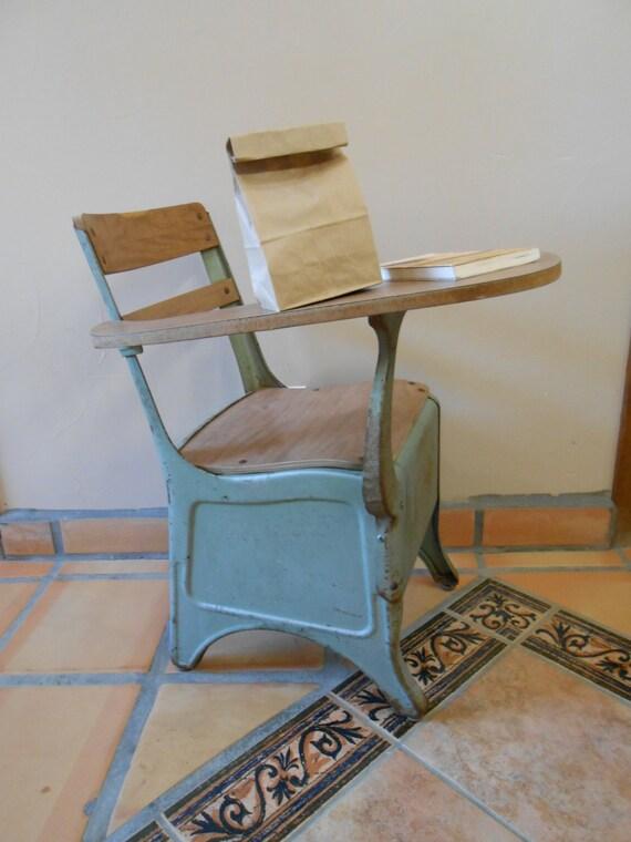 SCHOOL DESK CHAIR Combo Vintage Mid Century By ManzanitaMercantile