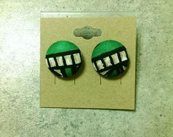 Ankara stud earrings