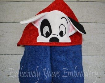 Patch Puppy Children's Hooded Towel - Baby Towel - Childrens Hood Towel - Bath Towel - Beach Towel - Personalized Towel - Character Towel