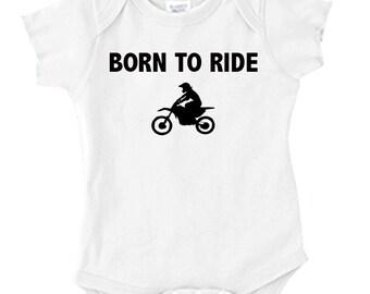 Baby Onesie - BORN TO RIDE - Motocross Baby