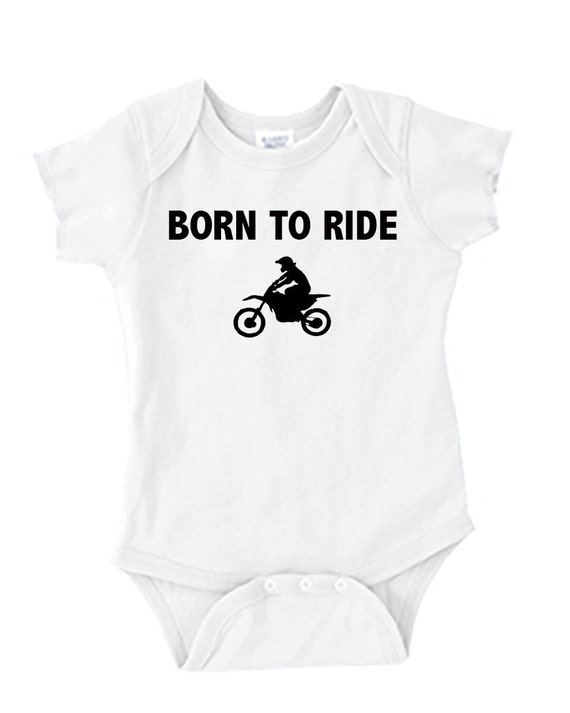 Baby Onesie - BORN TO RIDE - Motocross Baby
