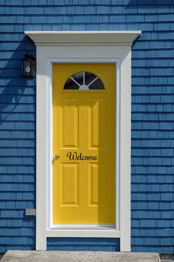 Welcome Front Door Decal Front Door Decal Welcome By SouthernRealm