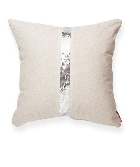 Items similar to White Embellished Pillow Cover, pillow accent, throw pillow, home decor, living ...
