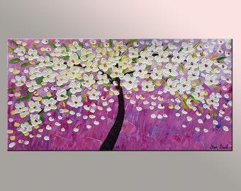 Oil Painting, Original Oil Painting, Bedroom Wall Art, Canvas Art, Original Art, Tree Painting, Original Abstract Art, Canvas Oil Painting