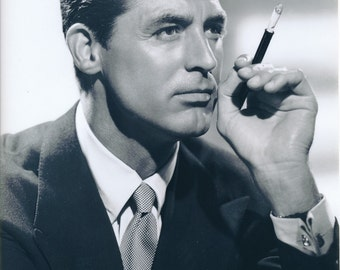 Black and White Photo of Cary Grant   Golden Age of Hollywood   His Girl Friday   Arsenic and Old Lace   Screwball Comic Actor