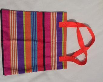 Colourful Striped Bag