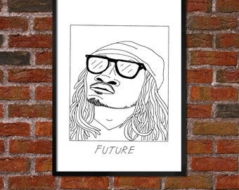 Badly Drawn Future - Hip Hop Poster - *** BUY 4, GET A 5th FREE***