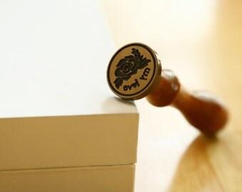 Customize Wax Seal Stamp,Monogram Name Seal Stamp,Wax seal Stamp with gift box and wax stick
