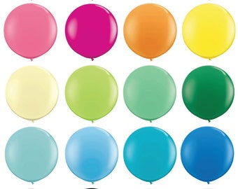 """36 inch Round Balloons - 36"""" Balloons - Giant 36 inch balloons"""
