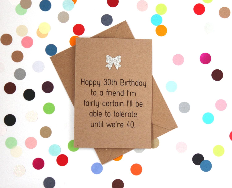 Funny 30th Birthday card 30th Birthday Card Happy 30th – Funny 30th Birthday Cards