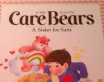 Vintage 1983 Care Bears book A Sister for Sam, Care Bear Book, Vintage care bear book, vintage book, vintage children's book
