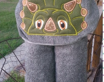 Dinosaur Hooded Towel with FREE Embroidered Name
