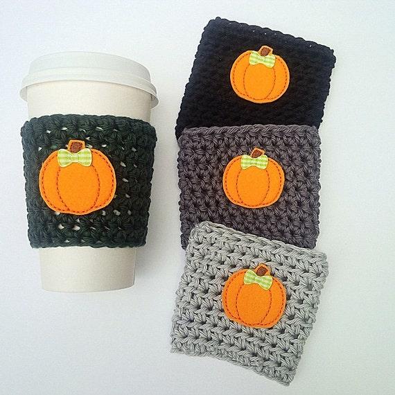 Crochet Coffee Cup Cozy Fall Drink Holder Fall by SparklyTwig