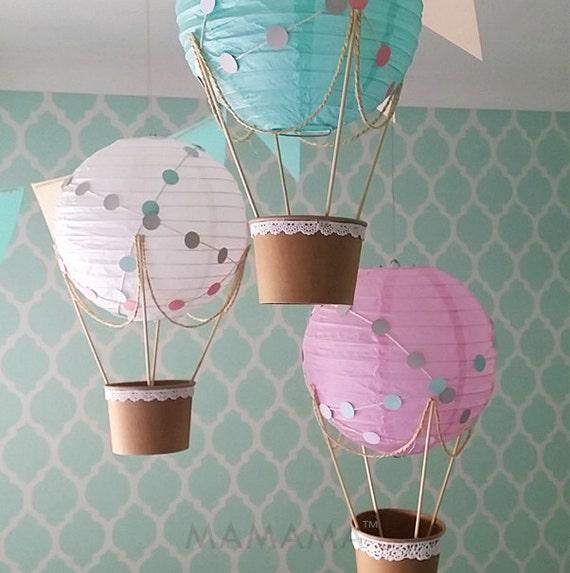 Whimsical hot air balloon decoration diy kit nursery decor for Balloon decoration kits