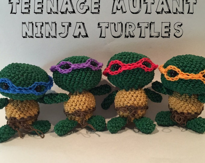 Teenage Mutant Ninja Turtles Combo Play Pack Rubber Band Figure, Rainbow Loom Loomigurumi, Rainbow Loom Character