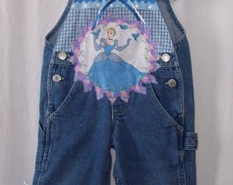 Custom made boutique Disney Princess Cinderella overalls 18 mo. PRICE REDUCED!!