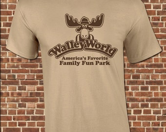 WALLEY WORLD Mens T-Shirt - all sizes available including youth - funny marty the moose vacation theme park california vintage tee UG640