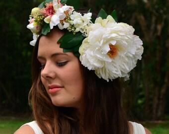 Sweet Peony Floral Crown