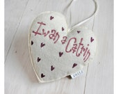 Personalised heart shaped decoration // Calon addurniadol wedi ei bersonoli