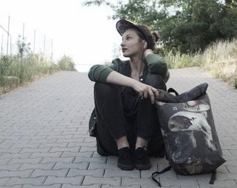Hieronymus Bosch Rolltop Backpack Urban Messenger Ridding Bag