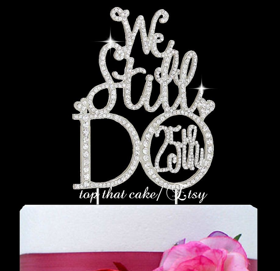 We still do 25th anniversary cake topper in by topthatcakenyc for 25th birthday decoration