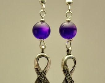 Purple dangle-cancer awareness
