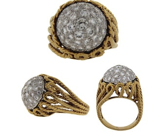 Vintage Estate Diamond Bombe Ring