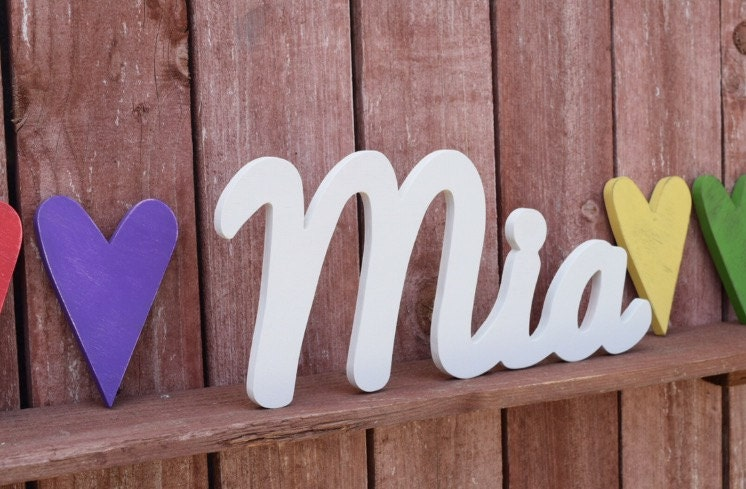 Large Baby Name Sign Mia Wooden name signs for nursery