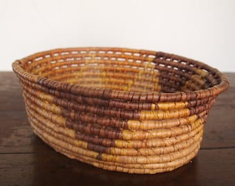 Vintage Thick Woven Basket