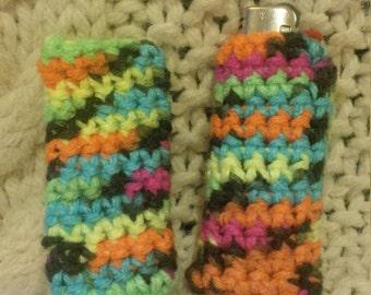 Neon Crochet Lighter Sleeve